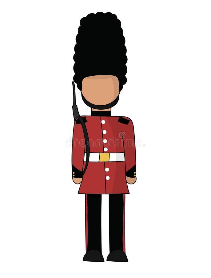 british guardkunglig person vektor illustrationer
