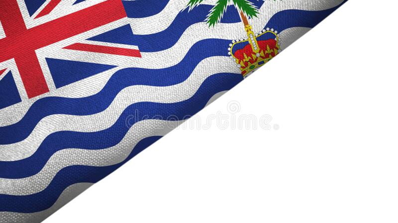 British Indian Territory flag left side with blank copy space. British Indian Territory flag isolated on white background placed on the left side with blank copy royalty free illustration