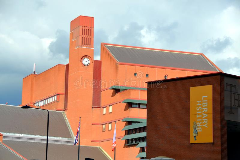 The British Library in London royalty free stock image