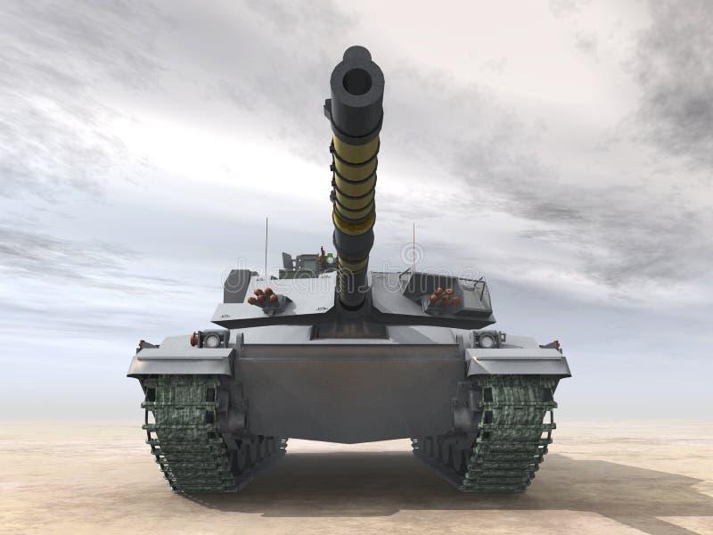 British Main Battle Tank. Computer generated 3D illustration with a British Main Battle Tank stock illustration