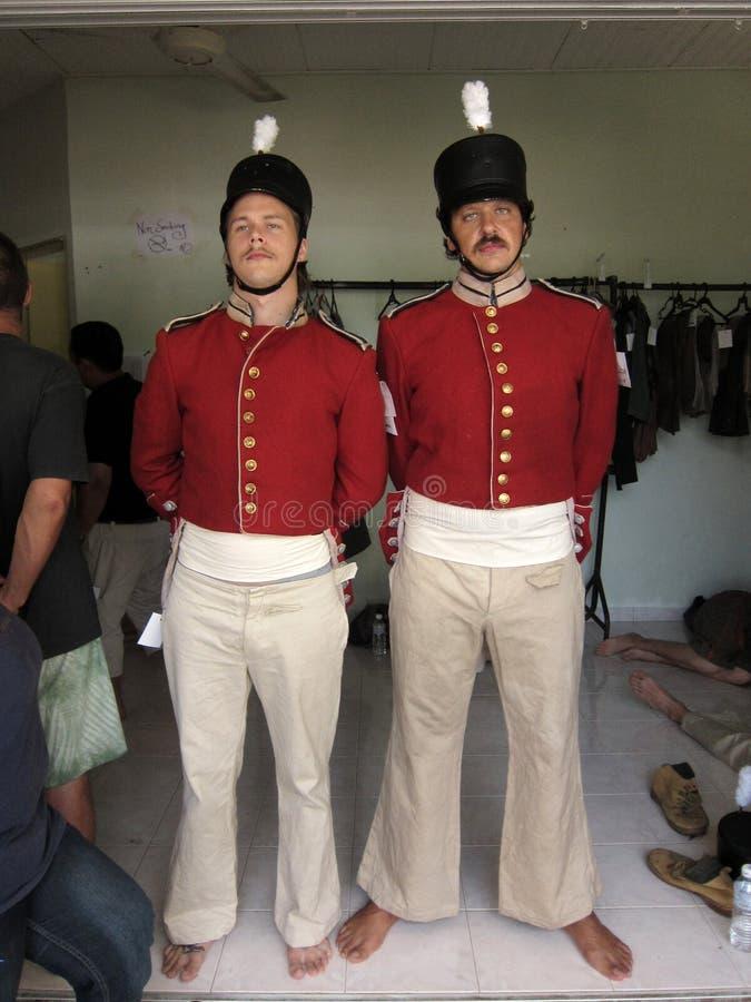 British marines at movie set
