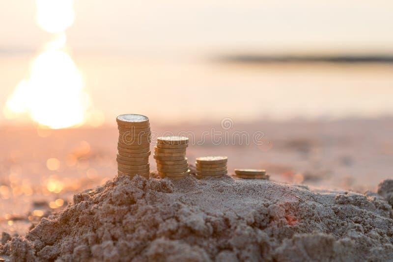 Pound Coin Stacks royalty free stock photo