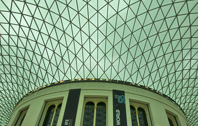 Download British Museum ceiling editorial image. Image of urban - 14393560