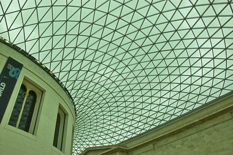 British Museum ceiling. Ceiling of British Museum, london stock photography