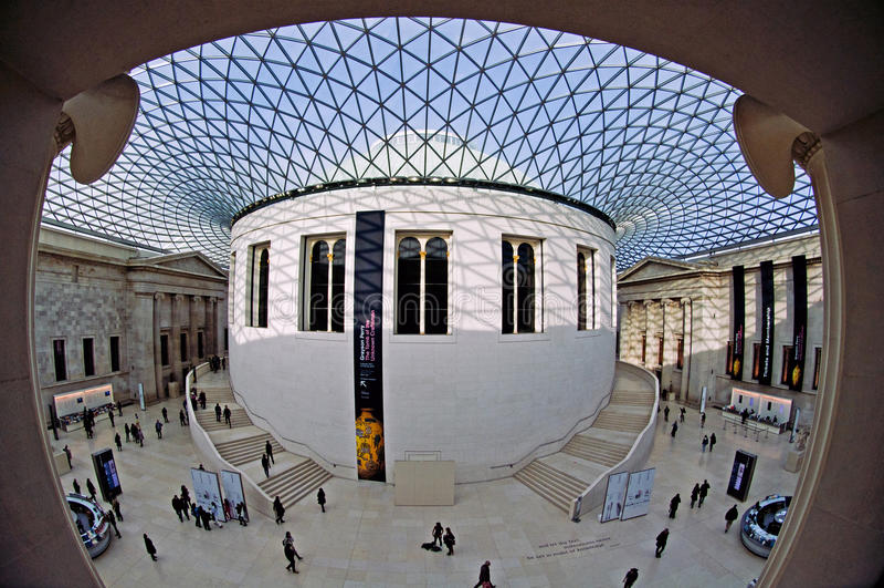 British Museum - a grande corte imagem de stock royalty free