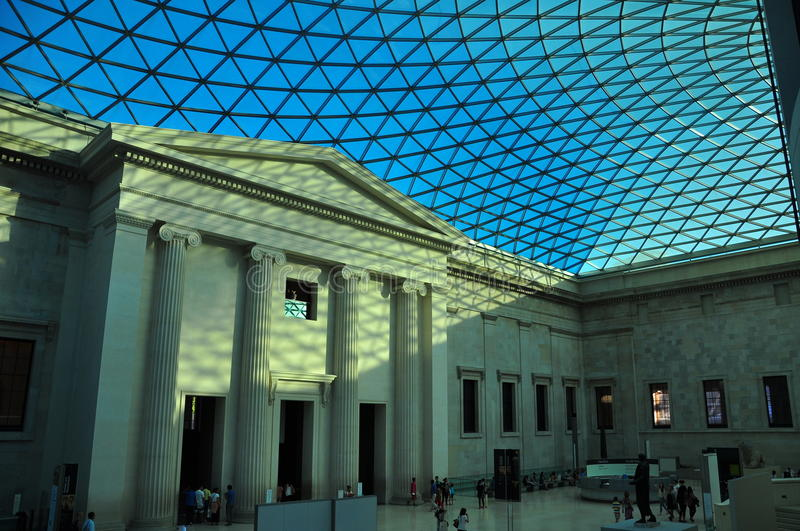 british museum interior editorial photography image of landmark