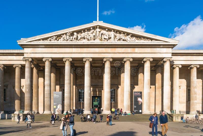 British Museum, Londen stock afbeeldingen