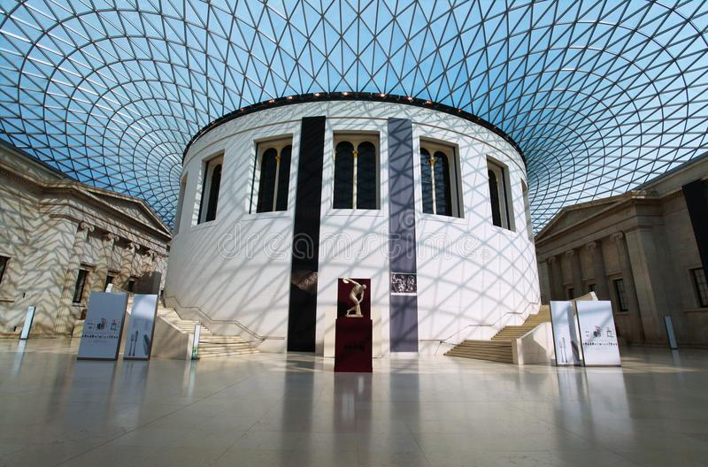 British Museum in Londen stock afbeeldingen