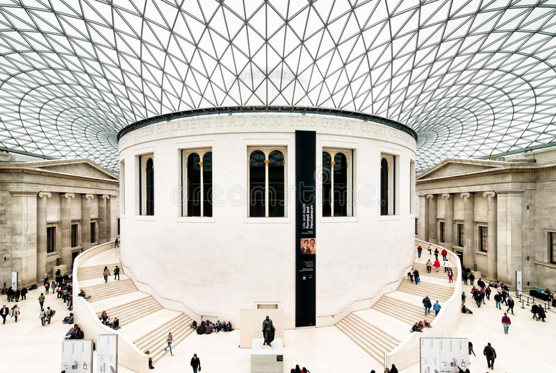 British Museum in Londen stock fotografie