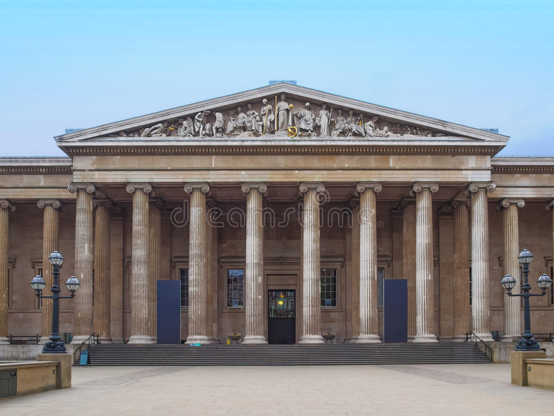 British Museum Londen royalty-vrije stock afbeelding
