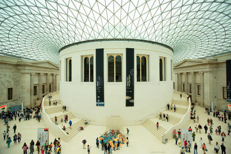 British Museum in Londen, Engeland op 5 Mei, 2015 British Museum royalty-vrije stock foto