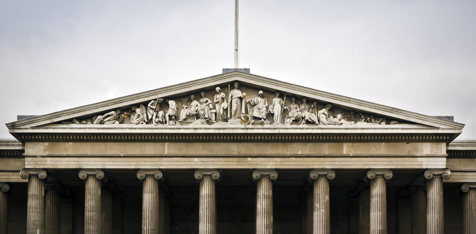 British Museum in London. The Main Entrance of the British Museum in London royalty free stock image
