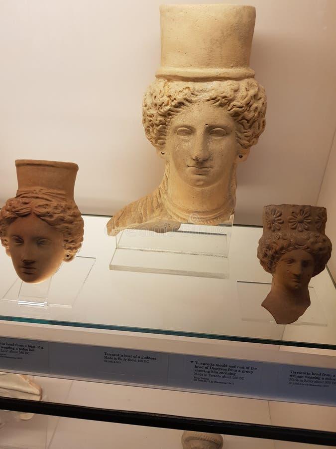 British Museum Exhibits royalty free stock photo