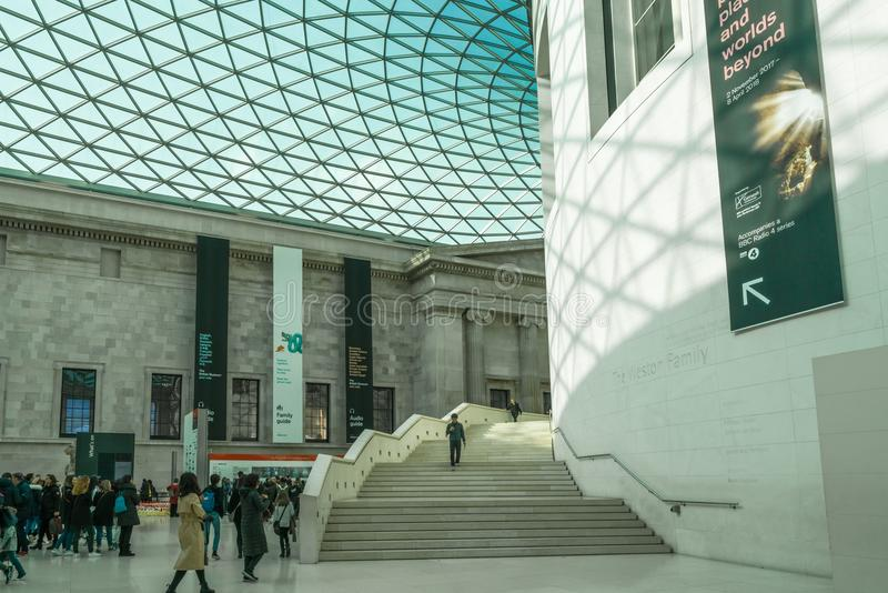 British Museum, Londres photographie stock
