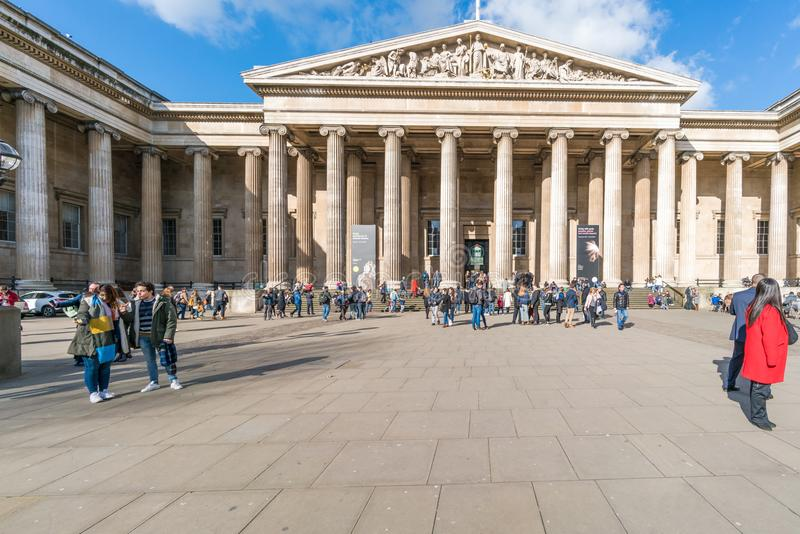 British Museum, Londres image stock