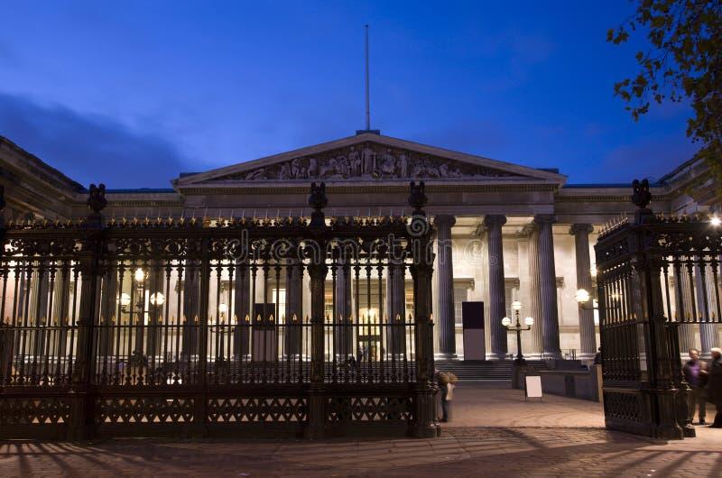 British Museum nachts stockfotografie