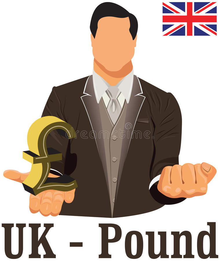 British National Currency Symbol Pound Representing Money And Flag
