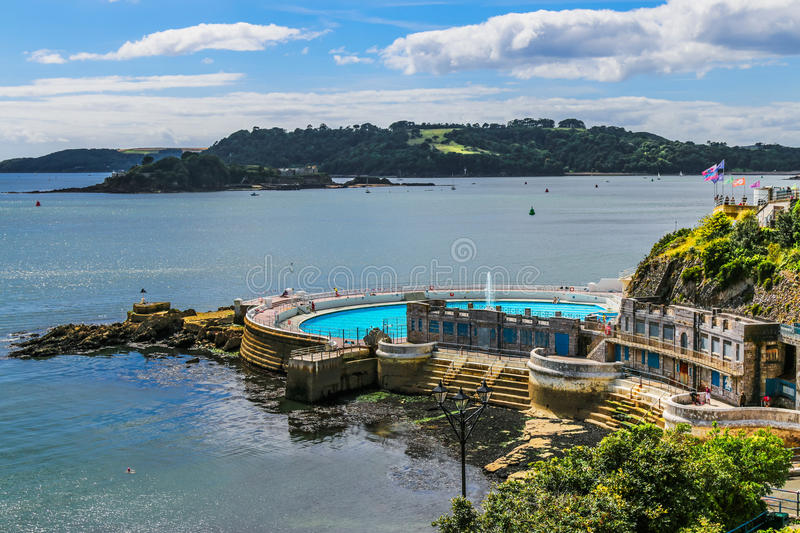 The British naval port of Plymouth royalty free stock image
