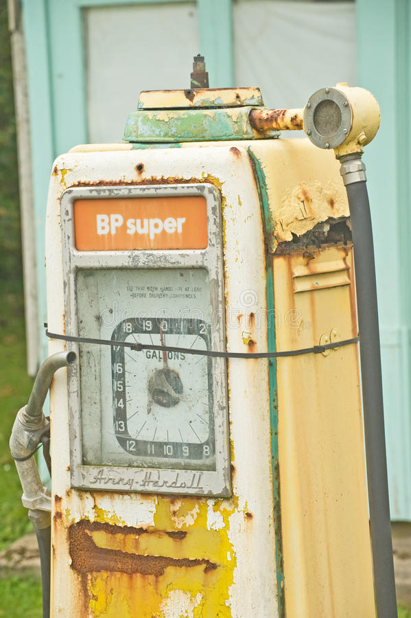 British Petroleum petrol pump.