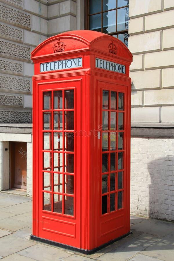 British Phone Box. Old fashioned British phone box stock photo