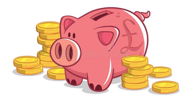 British Piggy Bank stock image