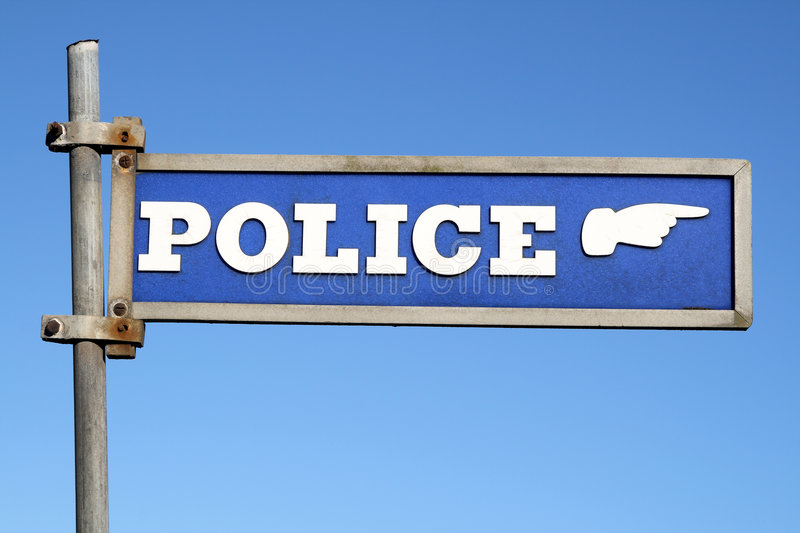 British police sign royalty free stock images