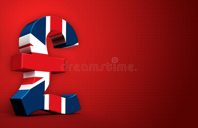 British pound vector illustration