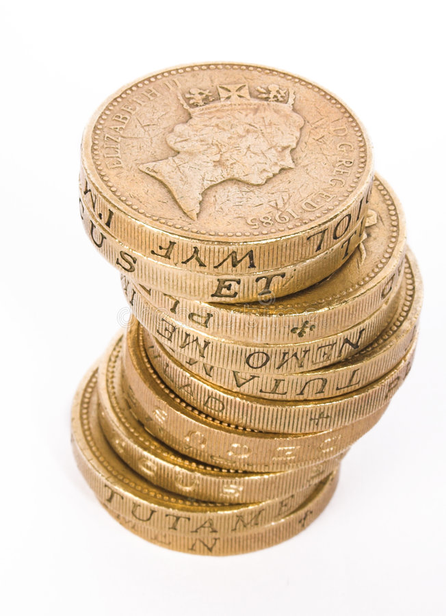 Download British pound coins stock photo. Image of face, business - 493864