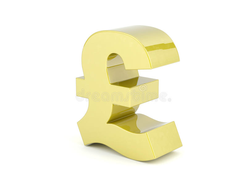 British pound sign royalty free stock photos
