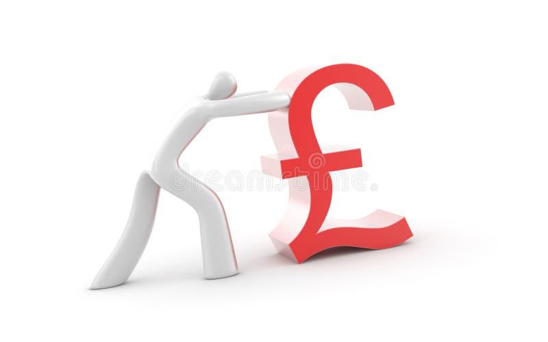 British Pound Symbol Isolated On White Stock Illustration