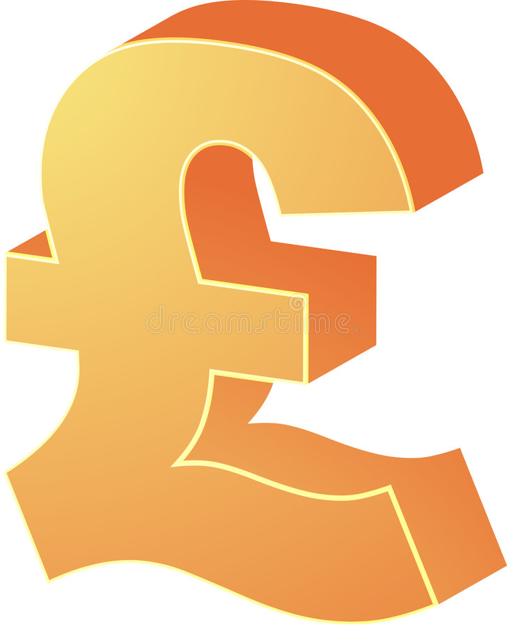 British pounds vector illustration