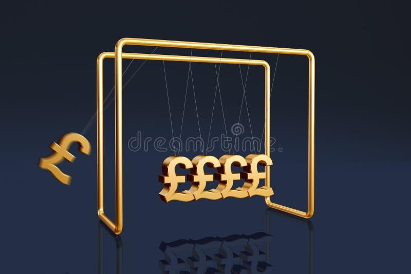 British pounds cradle stock illustration