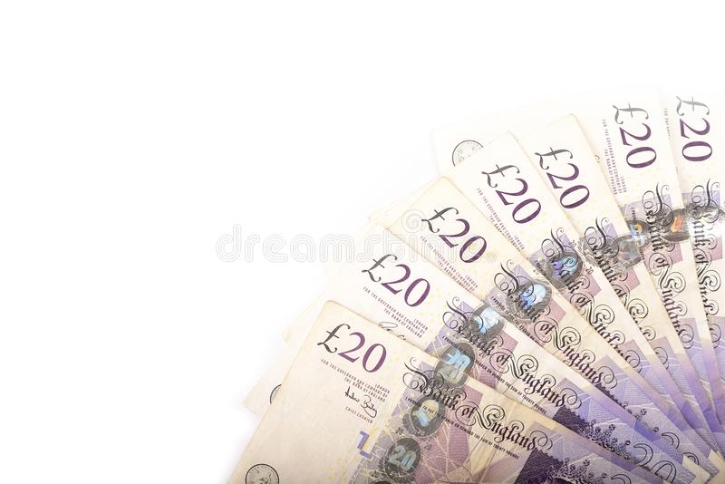 British 20 pounds stock images