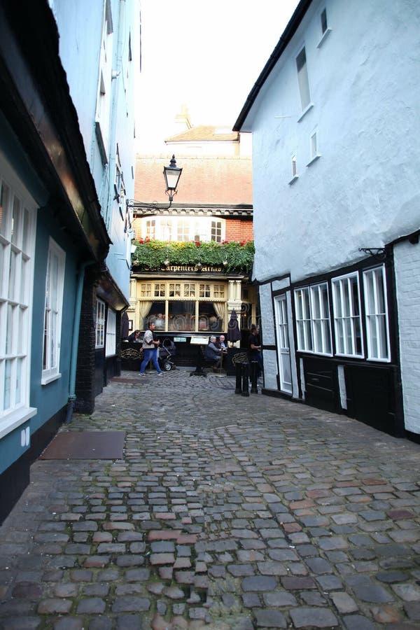 British pub scene. stock photo