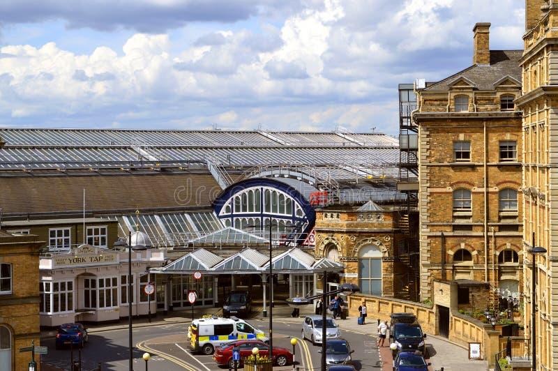 British Rail train station in York. York, England, UK, Europe - May 22, 2016 : British Rail train station in the historical City of York royalty free stock photography