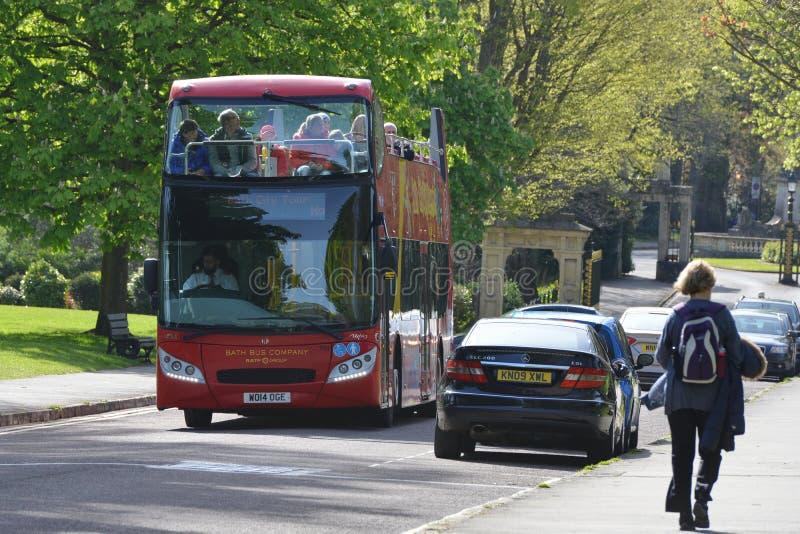 British Red Bus stock image