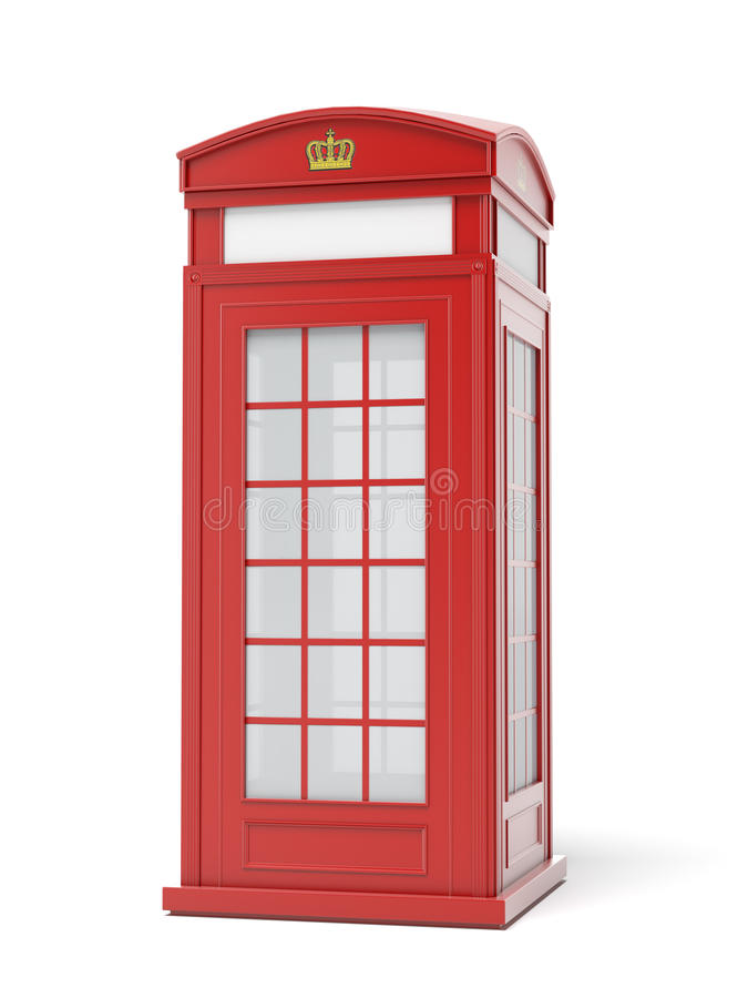 British red phone booth stock illustration