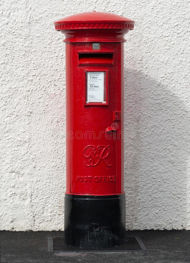 A British Red Pillar Box royalty free stock photo