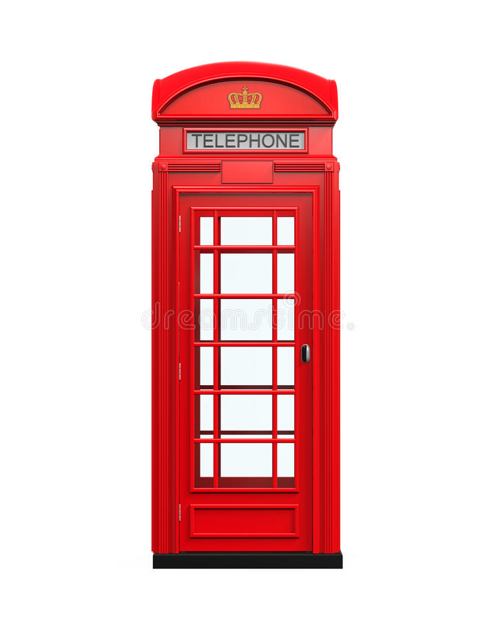 British Red Telephone Booth stock illustration