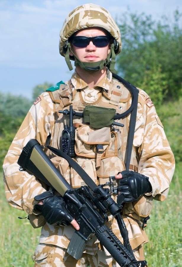 British Royal Commando stock image