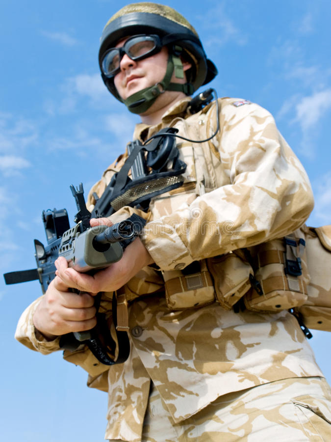 British Royal Commando stock images