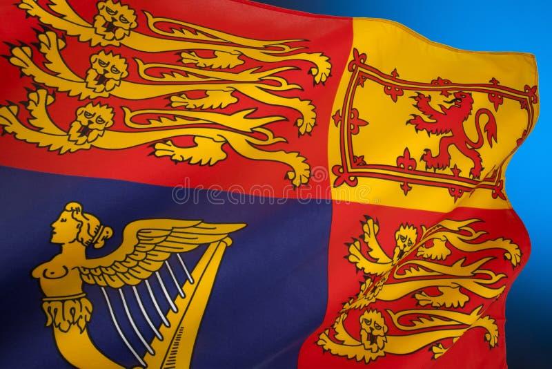 British Royal Standard - United Kingdom stock photography