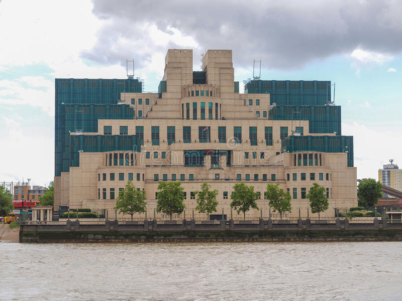 British Secret Service buidling. SIS MI6 headquarters of British Secret Intelligence Service at Vauxhall Cross London stock photography