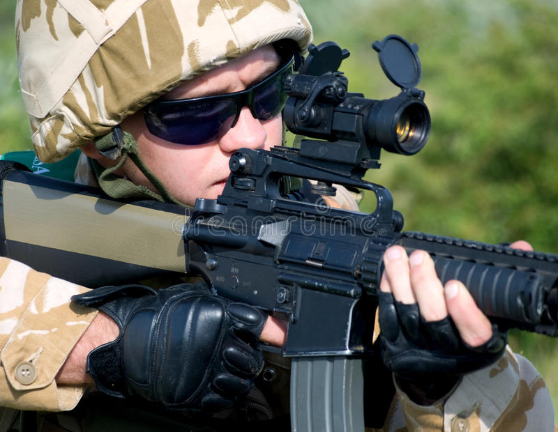 British soldier stock photo