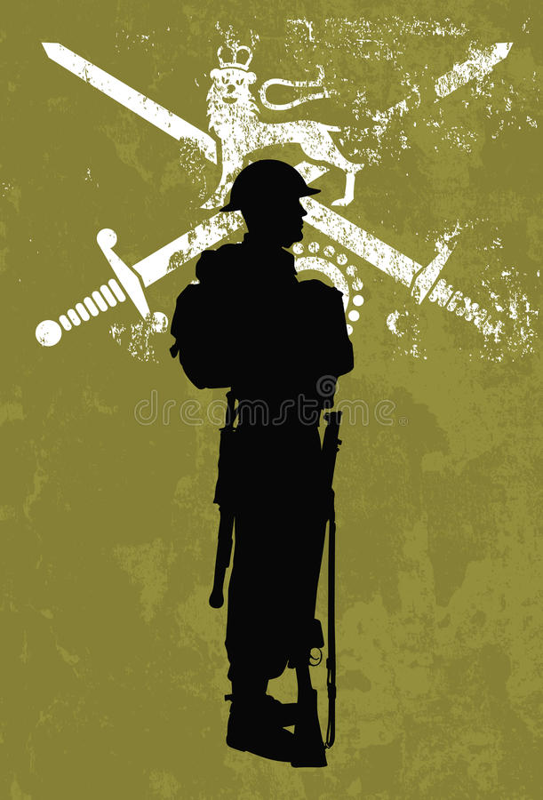 Download British soldier stock vector. Illustration of shadow - 13449262