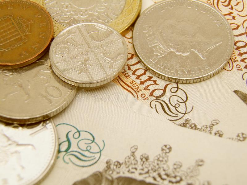 British Sterling pound currency royalty free stock photo