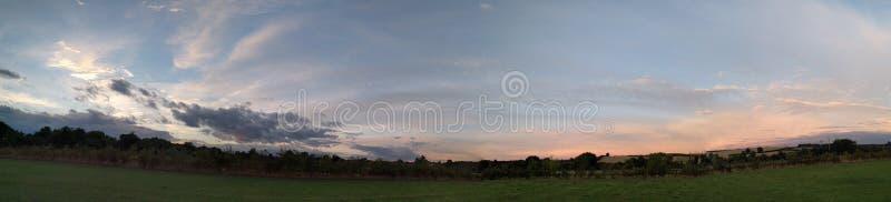 British summer panorama stock image