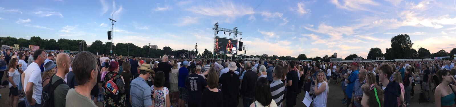 British Summer Time concert, London royalty free stock photos