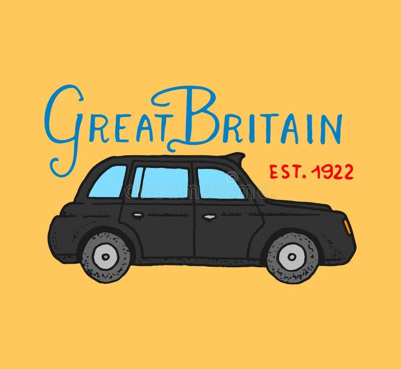 British Symbols Badges Or Stamps Emblems Car And United Kingdom