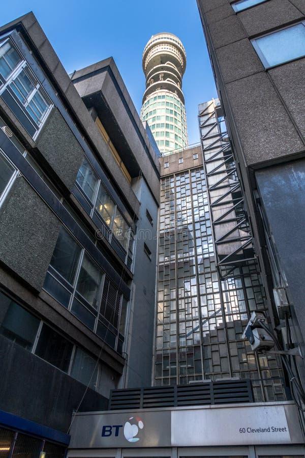 British Telecom dominent à Londres centrale photos stock